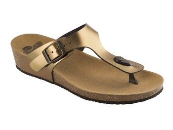 DR. SCHOLL Gandia Synthetic Laminated Womens Bronze Mis. 41
