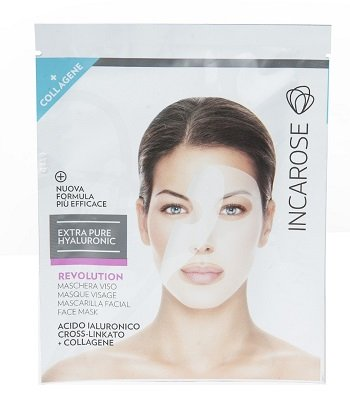 INCAROSE Eph Revolution Maschera Viso Acido Ialuronico Crosslinkato + Collagene