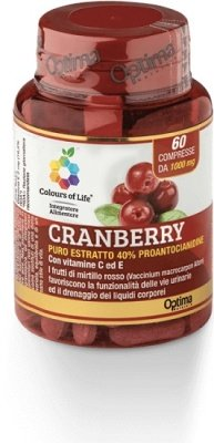 OPTIMA Colours Of Life Cranberry Con Vitamina C e 60 Compresse 1000 mg
