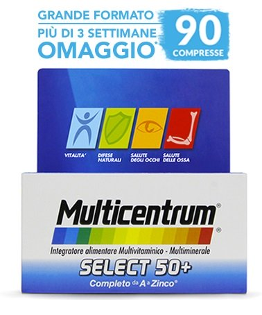 PFIZER Multicentrum Select 50+ 90 Compresse