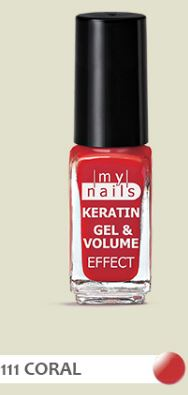 PLANET PHARMA My Nails Keratin Gel & Volume 111 Coral 5 ml